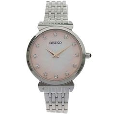 Stainless Steel Bracelet, Stainless Steel Case, Sport Watches, Ladies Watches, Seiko Watches, Lady, Jewelry Stores, Bracelet Watch, Fashion Accessories