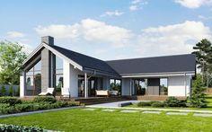 Những mẫu nhà cấp 4 năm 2017 Bungalow Renovation, Bungalow House Plans, Bungalow House Design, Dream House Plans, Bungalow Extensions, House Extensions, L Shaped House, Dream House Exterior, Modern Bungalow Exterior
