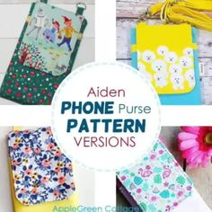 Cute DIY Christmas Tree Decorations Tutorial - AppleGreen Cottage Purse Patterns, Sewing Patterns Free, Free Sewing, Free Pattern, Dress Patterns, Diy Phone Bag, Diy Christmas Presents, Sewing Projects For Beginners, Teen Projects