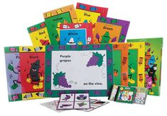 Sing and Read Colors Collection includes  Big Books, one Teacher Guide CD-Rom, one Reproducible Little Book CD-Rom,  one Storage Box, and one Music CD. Includes eStories  Red Yellow Blue Green Purple Black Brown Orange Pink White