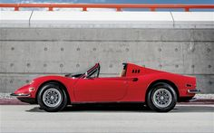 """I remember the moment, my first-ever glimpse of the aka the """"Dino. Read more about the 1973 Ferrari Dino from the automotive experts at Motor Trend. Fancy Cars, Cool Cars, Ranger, Car Side View, Automobile, Inside Car, Classic Wooden Boats, Porsche Carrera, Ferrari Car"""