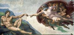 Bild:  Michelangelo (Buonarroti) - Die Erschaffung Adams