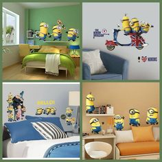 52 Best minion bedroom images | Minion bedroom, Wall Decals, Ideas