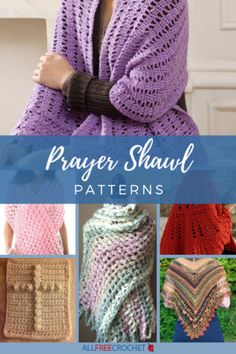 Discover an easy crochet prayer shawl to make someone who is having a tough time. Prayer shawl crochet patterns are the greatest gift you can give. Prayer Shawl Crochet Pattern, Prayer Shawl Patterns, Crochet Prayer Shawls, Crochet Shawl Free, Crochet Shawls And Wraps, All Free Crochet, Crochet Scarves, Easy Crochet, Crochet Shirt