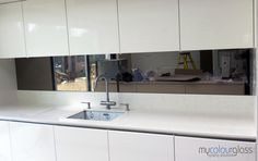 silver tinted mirror splash back - Google Search