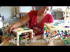 Rabbits need toys to live happy and healthy lives. Luckily, homemade toys are easy and fun to DIY. You'll find all kinds of ideas and instructions here! toys Make Your Own Homemade Rabbit Toys Rabbit Toys, Pet Rabbit, Rabbit Treats, Diy Bunny Toys, Flemish Giant Rabbit, Bunny Room, Indoor Rabbit, Make Your Own, Make It Yourself