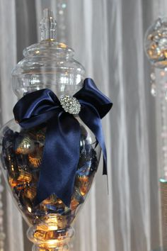 BY TASTY TABLES: navy blue candy buffet, bling candy buffet, candy buffet san diego, wedding candy buffet