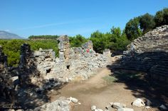 Hellenistic Theatre Of The Phaselis Ruins - Phaselis was the first stop on our Kemer to Kekova #GuletVoyage