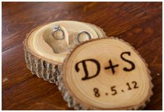 Wood ring box - perfect for rustic wedding.