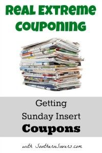 Extreme Couponing: Getting Sunday Insert Coupons Real Extreme Couponing: Where and how to get your Sunday newspaper insert coupons.Real Extreme Couponing: Where and how to get your Sunday newspaper insert coupons. Save Money On Groceries, Ways To Save Money, Money Tips, Money Saving Tips, Money Savers, Saving Ideas, Groceries Budget, Money Budget, Extreme Couponing