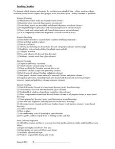 Image result for car detail checklist contract agreement - Interior car cleaning los angeles ...
