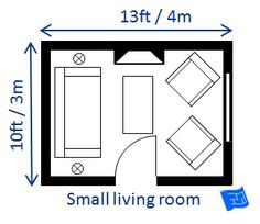 Small Living Room This Page Lists Sizes Needed To Fit Different Layouts