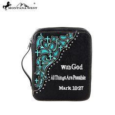 NEW Montana West Cowgirl Cross Black Bible Cover Spiritual Verse Matthew 10:27 #MontanaWest #BibleCover