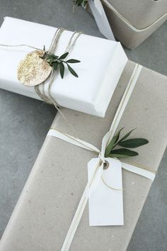Минималистичная упаковка подарков № 2