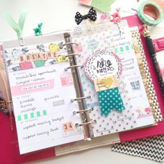 Planner Darling: This week in my Dark Pink Color Crush planner using @theplannersociety's April kit!