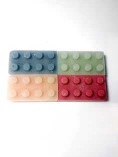 Building Block Shaped Wax Melts  Set of 4 Lego by GoodGollySir