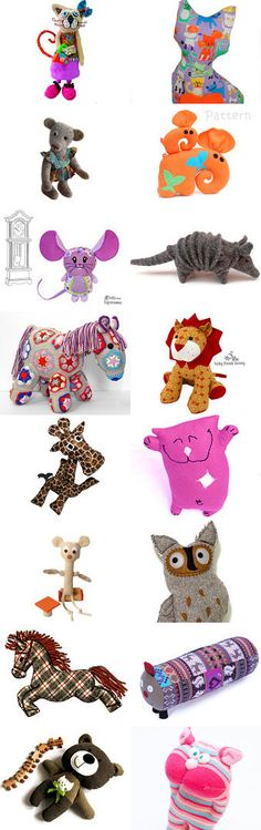 Goofy Critters... by Faye on Etsy--Pinned with TreasuryPin.com