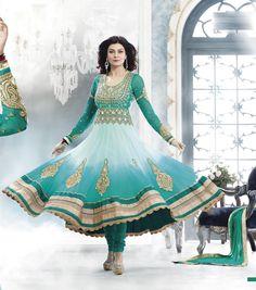 Sushmita Sen Long Designer Anarkali Dress Material