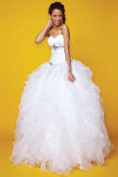 2013 Quinceanera Dresses Ball Gown Sweetheart Floor Length Organza(#PTZHRXCT)
