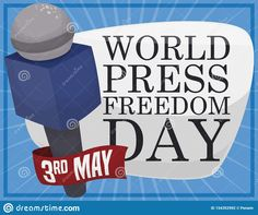 Illustration about Commemorative design with sign, microphone and ribbon with the date to celebrate World Press Freedom Day: May. Illustration of commemoration, poster, elements - 154352992 Freedom Day, World Press, Signs, Illustration, Shop Signs, Illustrations, Sign