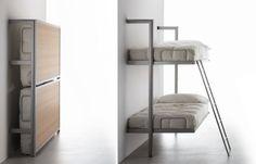 folding bunk bed, foldaway bunk bed,