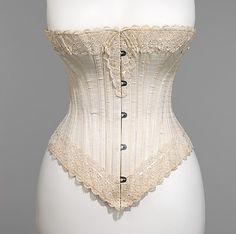 Ca 1893, Royal Worcester Corset Company, summer corset of lightweight cotton
