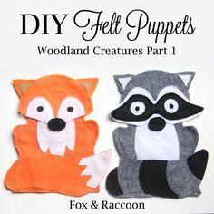 My friend introduced me to the world of felt puppets. She kept asking me if I wanted to make some felt puppets with her and I kept telling her no. I totally thought that felt was just not my thin…