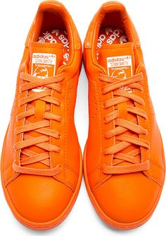 Raf Simons X Sterling Ruby: Orange Stan Smith Adidas Edition Sneakers