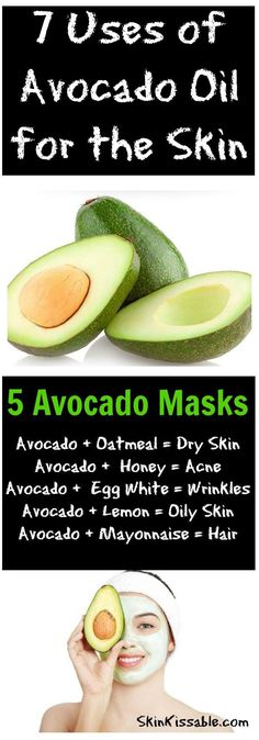 The many benefits of avocado oil for the skin & hair.