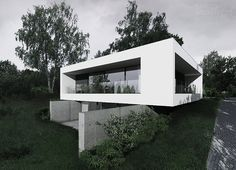 by-house, house on a slope, bydgoszcz