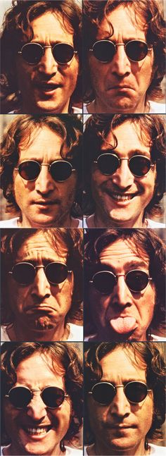 Some of the many faces of John Lennon. Top left and second one up on bottom right are my favourites! Which are yours? :)