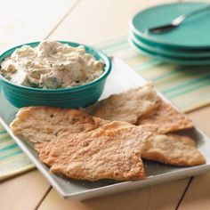 Garlic Cheese Spread Recipe -Making this cheese spread is easy and fun. It tastes great on flatbread, focaccia or crackers. —Taste of Home Test Kitchen