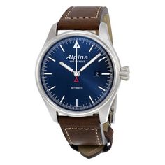 """** like the style (inc. hashes instead of numbers) but too big (40 ideal, 42 max, 38 a bit dainty) - really like this one but too big (44""""+) - Alpina Watches - Jomashop"""
