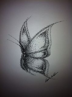 Dotted butterfly drawing