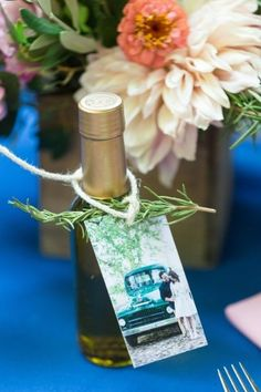 Olive oil and rosemary DIY wedding favors