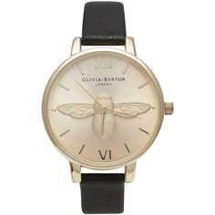 Olivia Burton Watch - Moulded Bee - Black & Gold (twistedtime.com)
