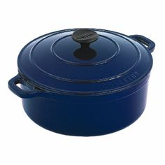 Round French Oven 28cm 6.3Ltr in French Blue
