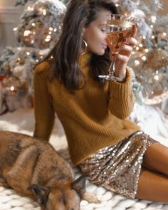 SARAH BUTLER (@sarahstylesseattle) • Instagram photos and videos Sarah Butler, Merry Christmas Eve, Stay Classy, New Years Eve Party, Holiday Outfits, Mock Neck, What To Wear, Glamour, My Style