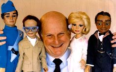 The late Gerry Anderson with some of his most iconic creations
