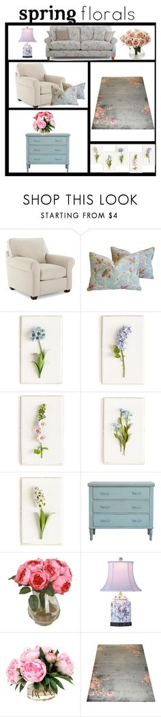 """""""Decor with florals"""" by colonae ❤ liked on Polyvore featuring interior, interiors, interior design, home, home decor, interior decorating, Scalamandré by Lenox, Tommy Mitchell, Bradshaw Kirchofer and Universal Lighting and Decor"""