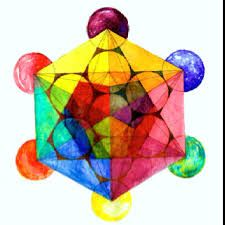 Image result for watercolor metatron's cube