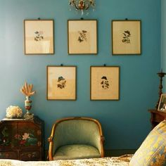 Photo taken by Farrow & Ball - Farrow Ball, Farrow And Ball Paint, Room Colors, Wall Colors, House Colors, Paint Colours, Blue Green Paints, Interior And Exterior, Interior Design
