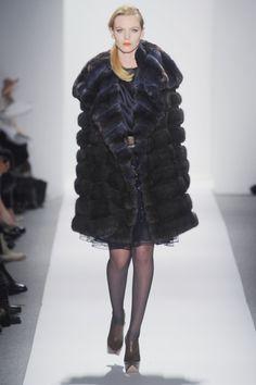 Dennis Basso Barguzine Sable & Navy Chinchilla Fur Coat