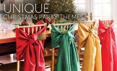 Christmas Party Ideas: 'Tis the Season to Celebrate! There's no better time of year to gather a group of friends and family. Fun Christmas Party Ideas, Christmas Decorations, Table Decorations, Christmas Chair, Christmas In July, Tis The Season, Happy Holidays, Home Improvement, Seasons