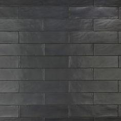 Merola Tile Chester Matte Nero 3 in. x 12 in. / pack) - - The Home Depot Black Wall Tiles, Black Subway Tiles, Black Backsplash, Kitchen Backsplash, Subway Tile Colors, Backsplash Ideas, Black Tile Bathrooms, Chalkboard Wall Bedroom, Kitchen
