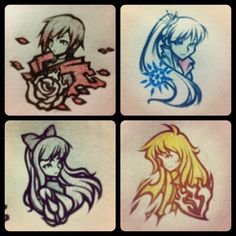 RWBY Bust Sketches by *isaiahjordan on deviantART