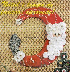 Facilite Sua Arte: Fuxico 5 - Enfeite de Natal com Fuxico