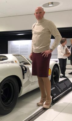 Porsche, February, Museum, Cars, My Style, Sweaters, How To Wear, Outfits, Dresses