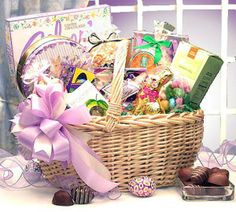 An easter festival deluxe gift basket gift pinterest easter gift basket ideas for adults negle Gallery