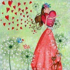 Hearts illustration via Carol's Country Art Fantaisiste, Art Carte, I Love Heart, Illustrations, Heart Art, Whimsical Art, Cute Illustration, Love Art, Easy Drawings